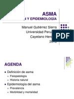 Asma definición y epidemiología 2013
