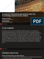 Workflow for sustainable urban development -Revit Architecturre