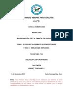 TEMA I y II Elaboracion de Proyectos.