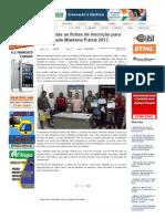 SiteBarra » Distribuídas as fichas de inscrição para Taça Cidade Mantena Futsal 2013