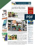 """SiteBarra » Produtores de Barra de São Francisco comercializam uvas na """"Praça Central"""""""