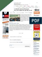 SiteBarra » Sedu abre seleção para professores temporários com salário de até R$ 3,4 mil