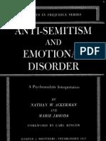 Anti-Semitism and Emotional Disorder a Psychoanalytic Interpretation.(1950)