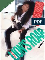Interview With Vito Bratta - Guitar World Setptember 1989