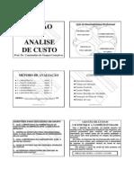 GESTÃO E ANALISE DE CUSTO