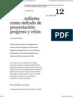 Racionalismo método proyectación-Josep María Montaner