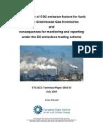 ETCACC TechnPaper 2003 10 CO2 EF Fuels