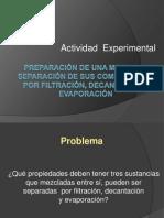 ACTIVIDAD EXPERIMENTAL de DESARROLLO Como Se Separan Los Contaminantes Del Suelo