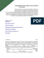 Les systèmes de management de la santé et de la sécurité au travail