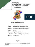 REGLAMENTO DE ELECTRIFICACIÓN RURAL