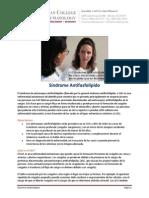 Información Reumatológica - Sx Antifosfolípido