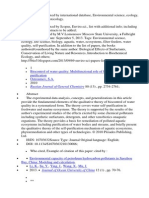 69 Publications Indexed by International Database.  Environmental science, ecology, water, biology, ecotoxicology.http://ru.scribd.com/doc/184807417/