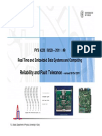 2011-9 Reliability and Fault Tolerance