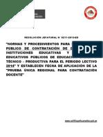 Concurso Contrato Docente 2014