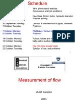 Measurement of Flow