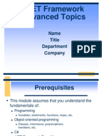 NET Framework Advanced Topics