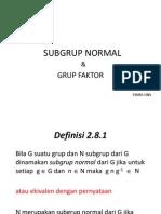 Subgrup Normal