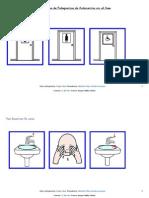 autonomía en el aseo -secuencia completa de pictogramas