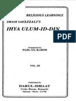 Ihya Ulum Al Din Vol 3