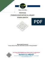 proposal pembangunan mahad al-abqary berbeasiswa