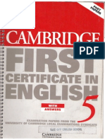 1209001 774EF Cambridge First Certificate in English 5 With Answers
