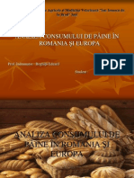 Analiza Consumului de Paine in Romania Si Europa