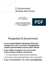 E-Government-Di Indonesia Dan Dunia