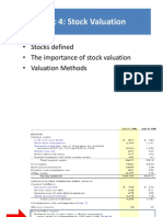 Topic 4 Valuation of Stock