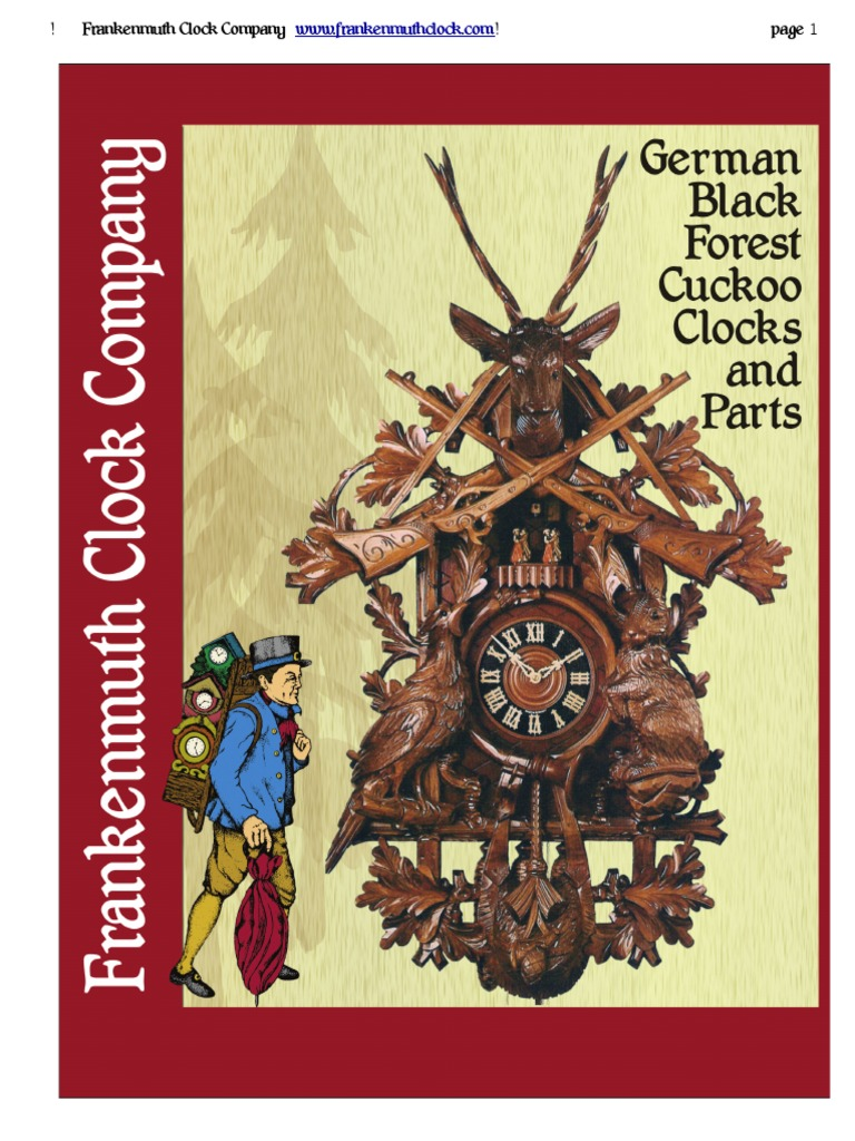 Collectibles German Cuckoo Clock Bellow Tops One pair of 1 1/8