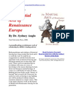 Interview with Sydney Anglo, the author of The Martial Arts of Renaissance