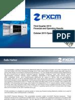 FXCM Q3 2013 Earnings Presentation