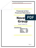 Final report on Motivation by Novelty Group of UCP