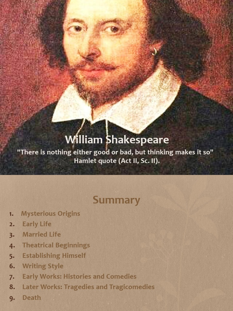shakespeare early life