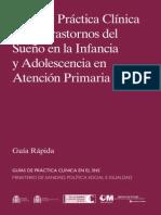 Trastorno sueño infancia y adolescencia