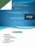 Apresentação do seminário 1 (doutorado)
