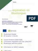 Ms. Sanna MESMAN - EU Legislation on Bluetongue Regarding Control Measures