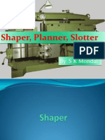 Ch-9 Shaper, Planner, Slotter