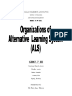 Organization in Alternative Learning Center