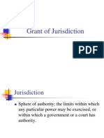 Grant of Jurisdiction