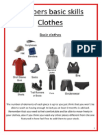 Preppers Basic Skill - Clothes