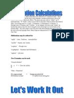 Medication Calculations