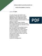 POEMAS ESPECIALES/FILOSOFICOS, POR GUILLERMO E. MATTA