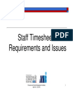CNCS Staff Timesheets:Requirements and Issues 2012