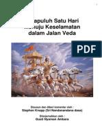 Tigapuluh Satu Hari Menuju Keselamatan Dalam Jalan Veda