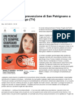 Lo Spettacolo Di Prevenzione Di San Patrignano a Castello Di Godego (TV) San Patrignano