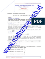 Soal Dan Bahas OSK Matematika SMA 2012