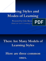 Learning Styles and Modes of Learning