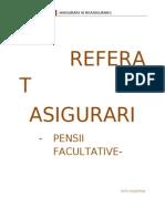 pensia privata facultativa