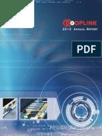 Oplink 2012 Annual Report