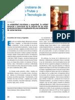 Seguridad Microbiana de Encurtidos de Frutas y Vegetales y la Tecnología de Barreras